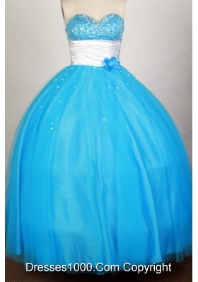 Popular Ball Gown Sweetheart Floor-length Blue Quinceanera Dress