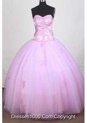 Pretty A-line Sweetheart Floor-length Quinceanera Dress
