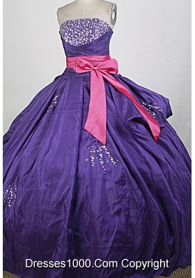 Pretty Ball Gown Strapless Floor-length Quinceanera Dress