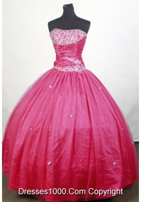 Simple Ball Gown Strapless Floor-length Quinceanera Dress