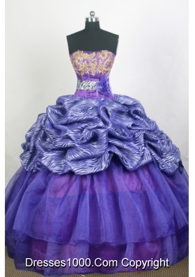Modest Ball Gown Strapless Floor-length Quinceanera Dress