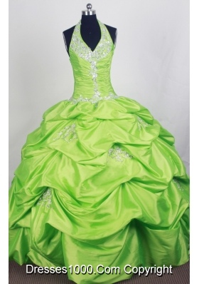 Perfect Ball Gown Halter Top Floor-length Quinceanera Dress