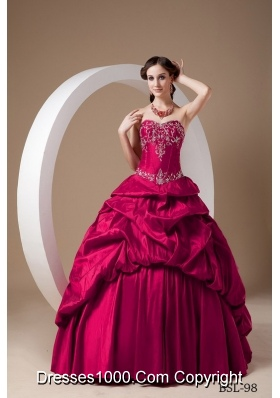 Princess Sweetheart Appliques Embroidery Dresses For Quinceaneras