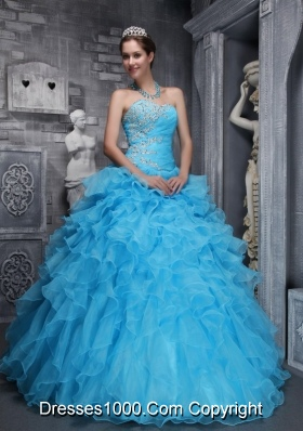 Beautiful Sweetheart 2014 Quinceanera Dress with Beading Appliques