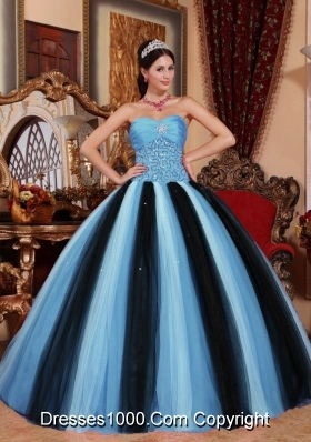 Multi-colored Ball Gown Sweetheart Quinceanera Dress with  Tulle Beading