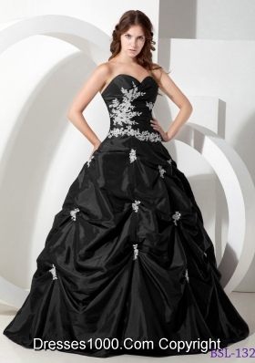 2014 Beautiful Ball Gown Sweetheart Appliques Quinceanera Gowns
