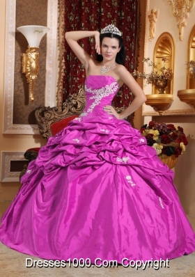 2014 New Style Strapless Quinceanera Dresses with Appliques