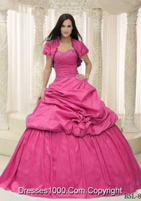 2014 Puffy Sweetheart Long Quinceanera Dresses with Appliques