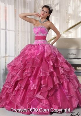 New Style Sweetheart Quinceanera Dresses with Organza Appliques