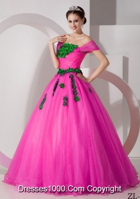 Pretty Princess Off The Shoulder Quinceanera Dresses with Appliques