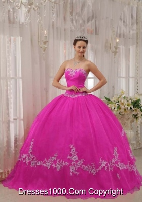 Sweetheart Appliques Pretty Sweet 16 Dresses for 2014 Custom Made