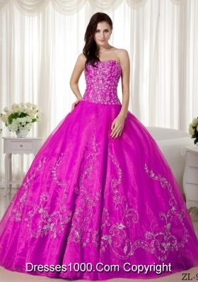 Ball Gown Sweetheart Quinceanera Dress with Organza Beading Embroidery