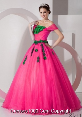 Modest Princess Off The Shoulder Quinceanera Dresses with  Organza Appliques