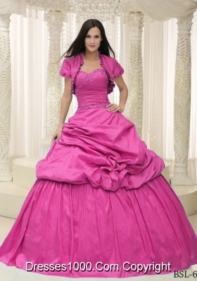 Taffeta Sweetheart Quinceanera Dress with Appliques Lace Up
