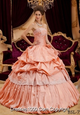 Beautiful Ball Gown Strapless Appliques 2014 Pick-ups Sweet Sixteen Quinceanera Dresses