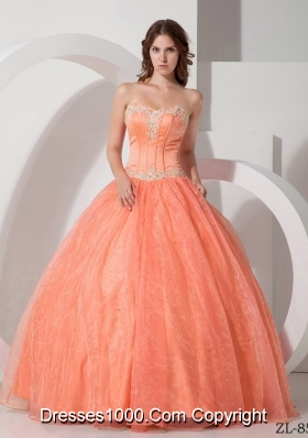 Beautiful Ball Gown Sweetheart Appliques with Beading Quinceanera Dresses
