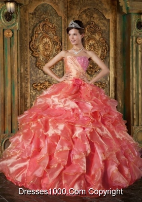 Exquisite Ball Gown Strapless Beading and Ruffles Dresses For Quinceaneras