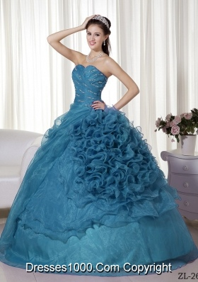 New Style Puffy Sweetheart Quinceanera Gowns with Beading and Ruching