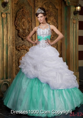 Princess Halter Quinceanera Gown Dresses with Beading and Pick-ups