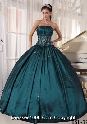 Strapless Puffy Quinceanera Gowns with Embroidery and Beading