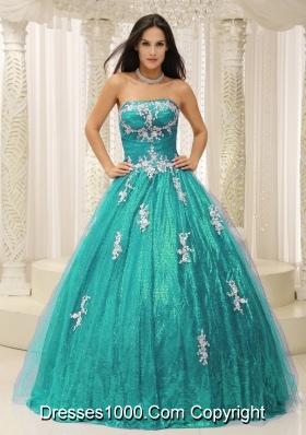 Wonderful Princess Sweet 16 Dresses with Appliques Paillette Dresses For Quinceaneras