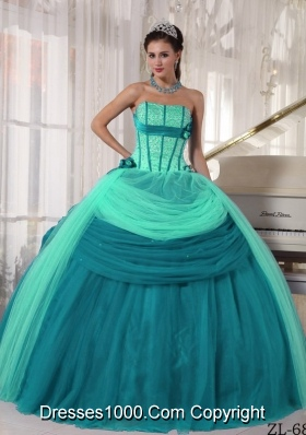 2014 Strapless Pretty Quinceanera Dresses with Beading
