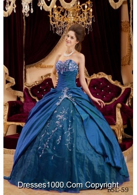 Cheap Sweetheart Appliques Ball Gown Long Quinceanera Gowns