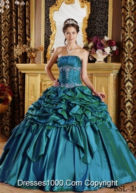 New Ball Gown Strapless Pick-ups Quinceanera Dresses for Military Ball