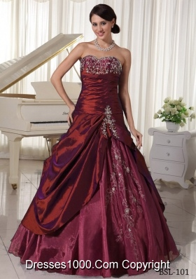 Elegant Sweetheart Quinceanera Dresses with Appliques and Beading