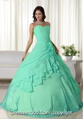 New Style Sweetheart Chiffon Quinceanera Dresses with Beading