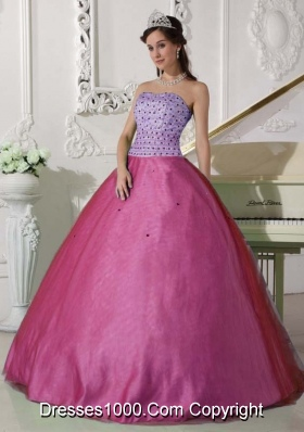 Discount Princess Strapless Quinceanera Dress with Beading