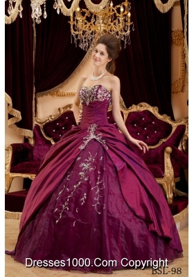 Sweetheart Quinceanera Dresses with Appliques and Beading
