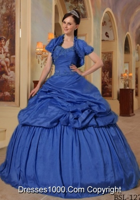 2014 Exclusive Puffy Sweetheart with Beading Quinceanera Dresses