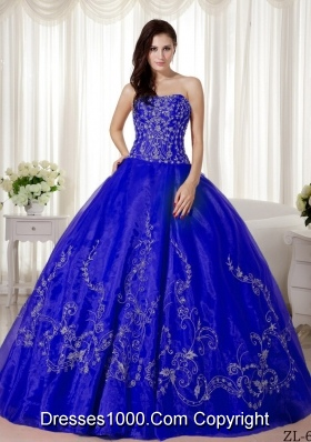 2014 Puffy Sweetheart Beading and Embroidery Quinceanera Dresses