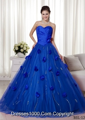 Princess Sweetheart Brush Train for 2014 Quincenera Dresses with Beading