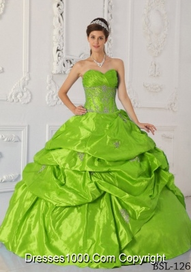 2014 Appliques Discount Quinceanera Dress with Sweetheart
