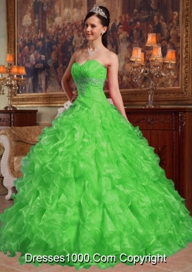 2014 Ball Gown Sweetheart Beading Long Quinceanera Gowns