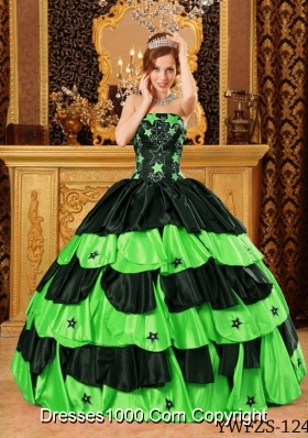 2014 Spring Pretty Quinceanera Dresses with Strapless