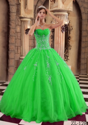 New Style Princess Organza Beading Quinceanera Dresses with Sweetheart