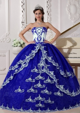 2014 Ball Gown Lace Appliques Quinceanera Dresses