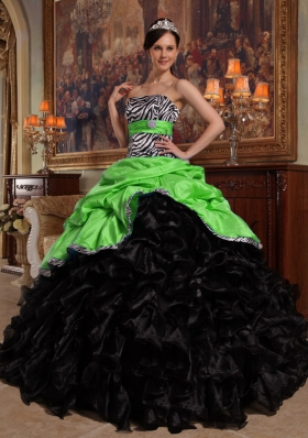 2014 Pretty Ball Gown Pick-ups Quinceanera Dresses with Sweetheart