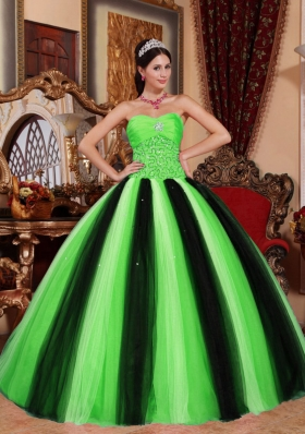 2014 Pretty Ball Gown Sweetheart Beading Quinceanera Dresses