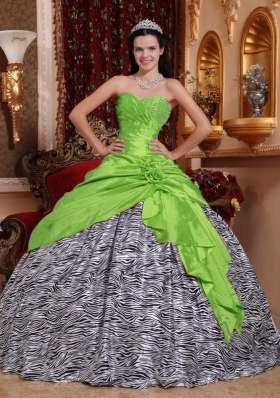 2014 Unique Sweetheart Beading Zebra Quinceanera Dresses