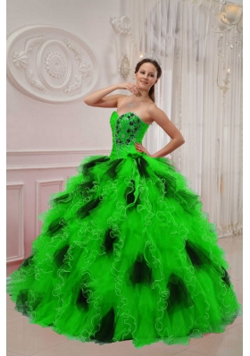 Ball Gown Sweetheart Beading and Ruching Quinceanera Gowns