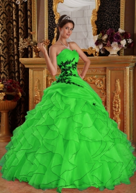Cheap Appliques Puffy Sweetheart Long 2014 Quinceanera Dresses