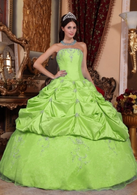 Elegant Ball Gown Floor-length Beading Quinceanera Dresses with Strapless