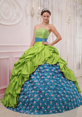 Elegant Ball Gown Strapless Quinceanera Gown with Beading