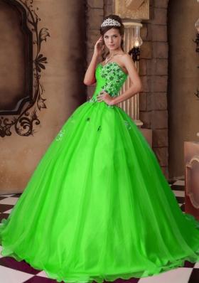 Elegant Princess Sweetheart Beading Long 2014 Quinceanera Dresses
