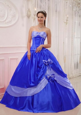 Elegant Sweetheart 2014 Appliques Quinceanera Dress with Bowknot