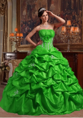 Fashionable Strapless Appliques Quinceanera Dresses for 2014